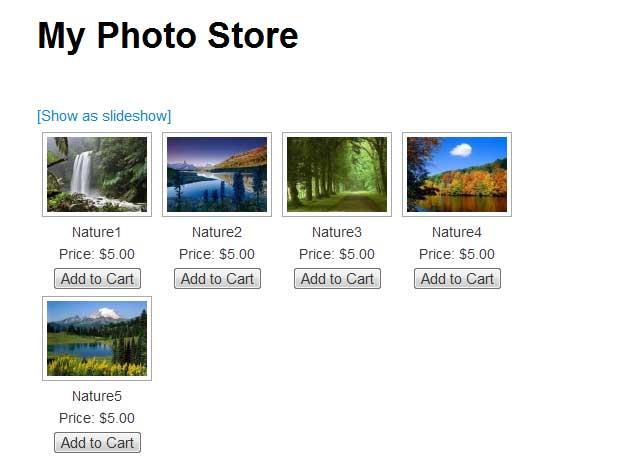 photo store in nextgen gallery