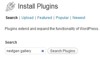 wordpress plugins menu screenshot