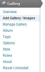 add a new gallery in nextgen gallery plugin
