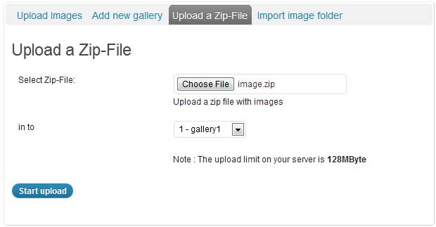 a screenshot showing how to upload multiple images to a nextgen gallery