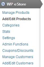 add or edit products in estore
