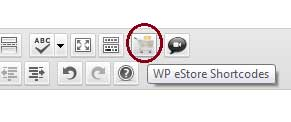 estore tinymce button to insert shortcode to a post or page
