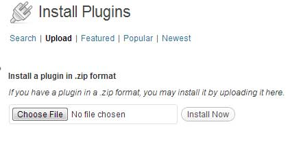 upload a plugin via wordpress  plugin uploader