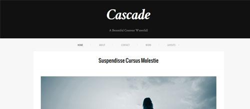 screenshot showing the PT Cascade theme