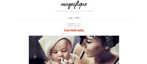 screenshot showing the PT Magnifque theme