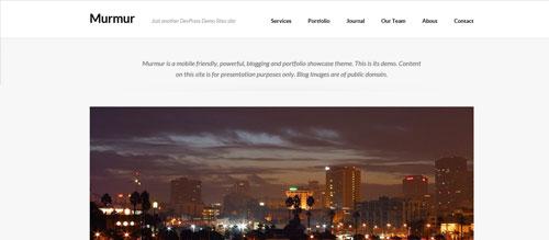 screenshot showing the PT Murmur theme