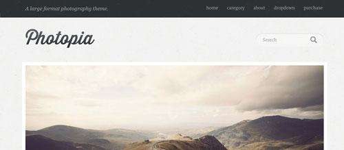screenshot showing the PT Photopia theme
