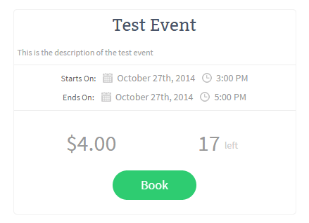 screenshot showing how to create an event box using event booking manager plugin